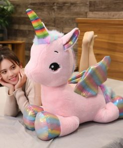 Giant Stuffed Unicorn Rainbow