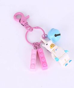 Lego Unicorn Kitty Keychain