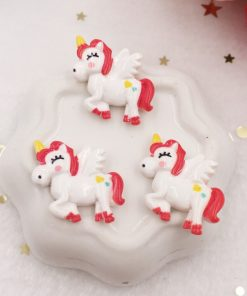 Unicorn Figurines Red