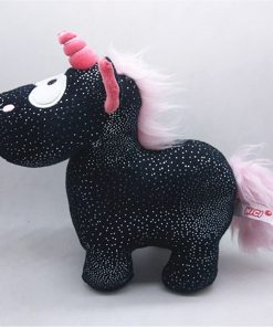 Unicorn Stuffed Animal Black