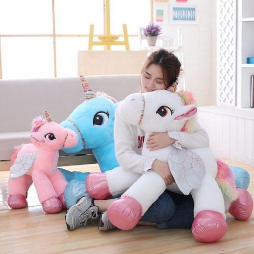 Big White unicorn stuffed animal for girls