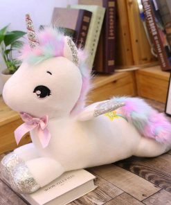 Big White Unicorn Stuffed Animal