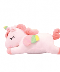 Pink Sleeping Unicorn Stuffed Animal