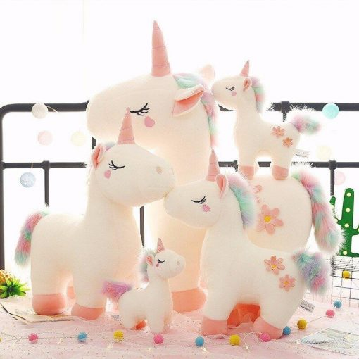 Baby unicorn stuffed animal pink plushies