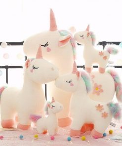 Stuffed animal white unicorn large size