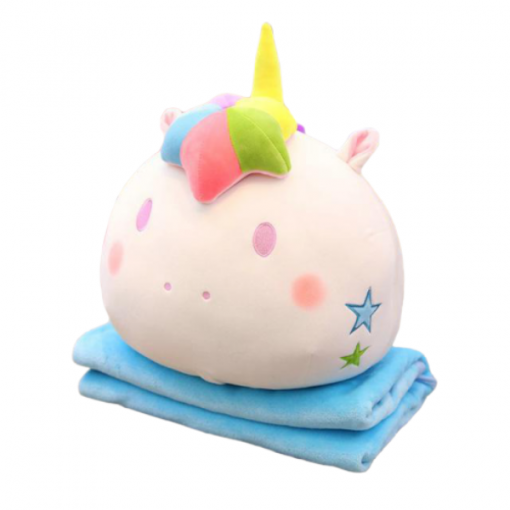 Stuffed Animal Unicorn Pillow Cover Kawaii Blue
