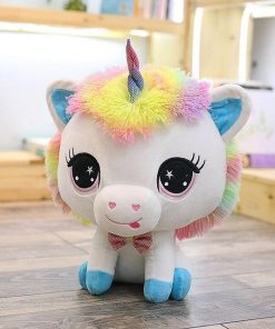 Big Head Blue Unicorn Stuffed Animal