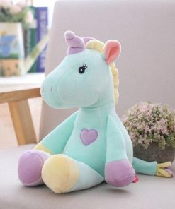 Stuffed Animal Unicorn Blue Purple Yellow