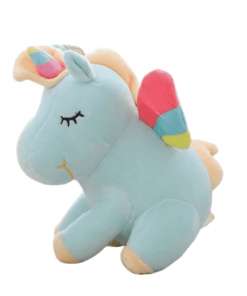 Blue Unicorn Stuffed Animal With Wing