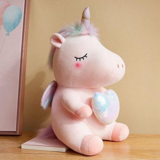 Unicorn Stuffed Animal Heart
