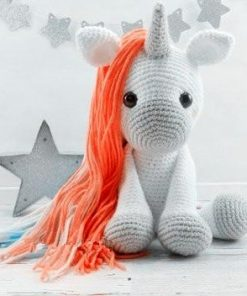 Crochet Unicorn Stuffed Animal White