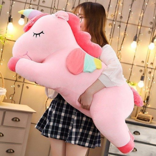 Jumbo Pink unicorn stuffed animal