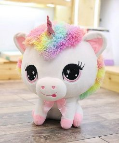 Big Head Pink Unicorn Stuffed Animal