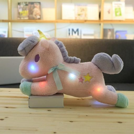 Bright Pink Unicorn Stuffed Animal