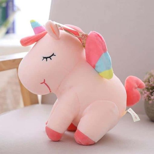 Pink Unicorn Stuffed Animal With Wing