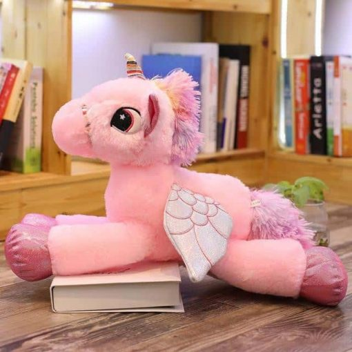 Pink Unicorn Stuffed Animal With Wings