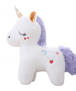 White Sleeping Unicorn Stuffed Animal