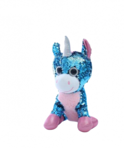 Blue Glitter Unicorn Stuffed Animal