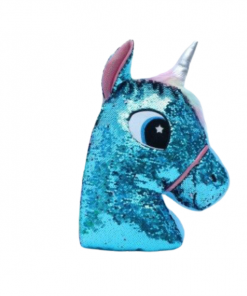 Blue Glitter Head Unicorn Stuffed Animal