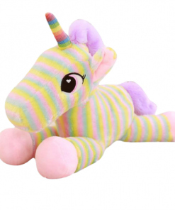 Zebra Stripe Unicorn Stuffed Animal