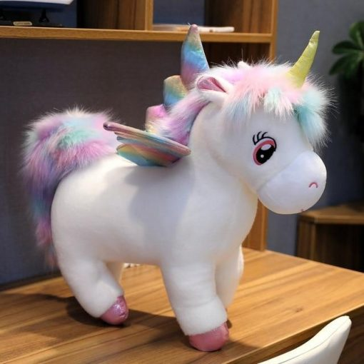 Huge unicorn stuffed animal white