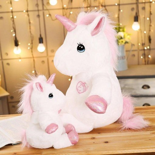Huge unicorn pink stuffed animal