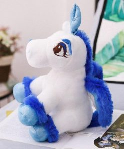 Unicorn Stuffed Animal Sitting Blue