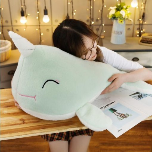 Green Whale Unicorn Stuffed Animal
