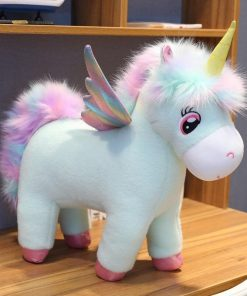 Unicorn Stuffed Animal With Big Eyes