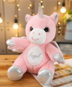 Unicorn Stuffed Animal With Pink Sitting Wing