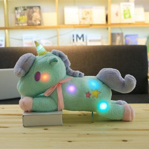 Small Bright Green Unicorn Stuffed Animal
