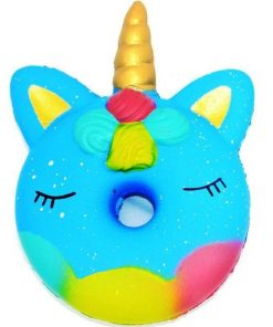 Kawaii Blue Unicorn Cake Squishy