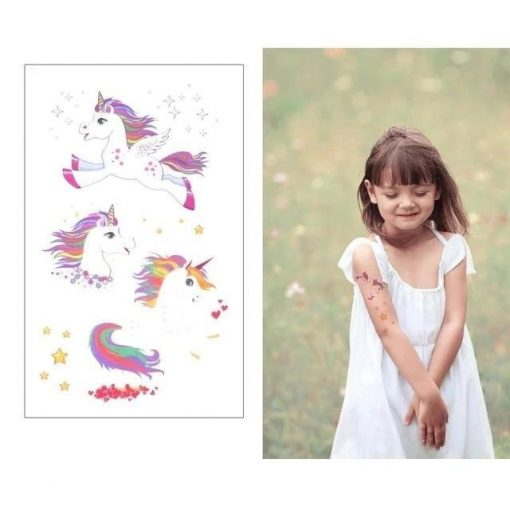 Super unicorn temporary tattoo