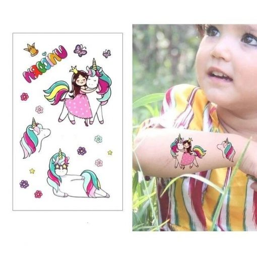 Temporary Tattoo Princess Unicorn