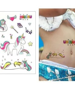 Rainbow Unicorn Temporary Tattoo