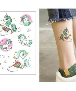 Ephemeral Unicorn Tattoo Color