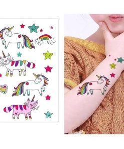 Temporary Unicorn Tattoo Fun