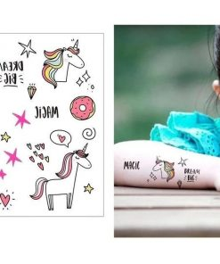 Simple Choice Unicorn Temporary Tattoo