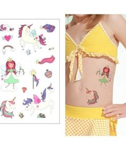 Unicorn World Temporary Tattoo