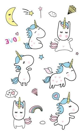 Minion unicorn tattoo