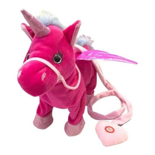 Electronic Red Unicorn Toy